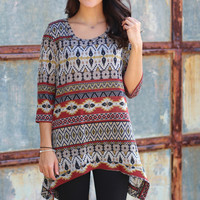 Wildest Dreams Tunic {Black+Rust}