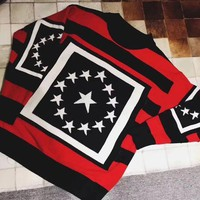 ONETOW Givenchy' Women Fashion Multicolor Five-pointed Star Knit Long Sleeve Sweater Tops