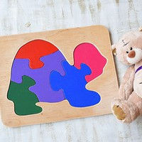Wood puzzle Turtle Montessori Toy wooden educational game Waldorf toys animal baby toys wooden puzzles Baby Shower Gift toddler learning game Eco friendly Toddler game Jigsaw Puzzle