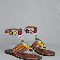 MIA Beaded Fringe Sandals