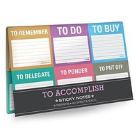 To Accomplish Sticky Notes Packet in 6 Gorgeous Colors