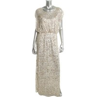 JS Collections Womens Sequined Blouson Formal Dress