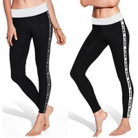 Victoria's Secret PINK Sport The Letters Are Slim Legging Pants Trousers