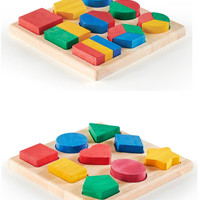 Guidecraft Fraction Action Board with Shape and Color Sorter Board