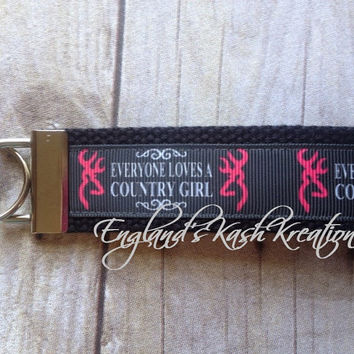 Browning Country Girl Keychain