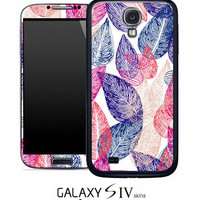 Seamless Leaves Skin for the Samsung Galaxy S4, S3, S2, Galaxy Note 1 or 2