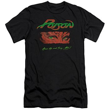 Poison Premium Canvas T-Shirt Open Up and Say Ahh Black Tee