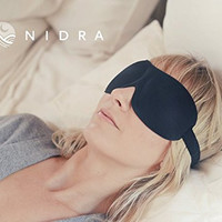 Nidra® Deep Rest Sleep Mask - Contoured & Comfortable Eye Mask - Blocks Out All Light for Deep, Restful Sleep, Travel, Shift Work, Meditation, and Migraines