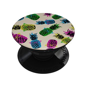 Tropical Cool Retro Pineapples - Skin Kit for PopSockets and other Smartphone Extendable Grips & Stands