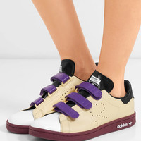 Adidas Originals - + Raf Simons Stan Smith color-block perforated leather sneakers
