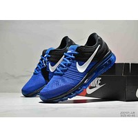 NIKE AIR MAX Tide brand low to help men's air cushion wear sneakers Blue