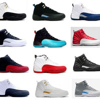 2017 air retro 12 XII ovo White mans Basketball Shoes Flu Game french blue taxi playoffs gamma blue University blue the master Sneakers