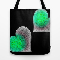 Groovy Hearts Tote Bag by Jensen Merrell Designs
