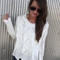 Wave On Wave Sweater - CREAM   The Rage