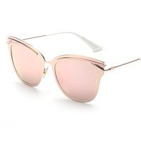 2016 New Retro Alloy Cat Eye Sunglasses Cosy Shades Men Women Designer Sunnies