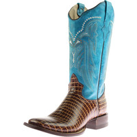 Roper Womens Leather Square Toe Cowboy, Western Boots