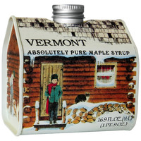 Green Mountain Goodness Rich Vermont Maple Syrup, Decorative Cabin Tin, 16.9 oz