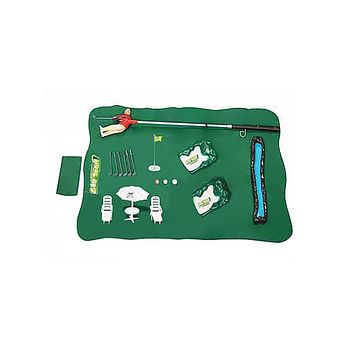 Children's Golf Club Set Toys Indoor And Outdoor Portable Parent-child Interactive Golf Game Educational Toys (Green)