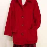 Retro Liz CLAIBORNE red Corduroy sports jacket
