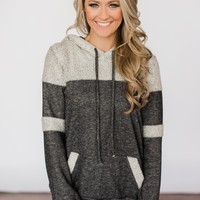 Forever Fuzzy Lightweight Hoodie - Charcoal