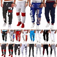 Mens Casual Sweatpants Sports Slack Jogger Harem Pants Running Tracksuit Bottoms   1