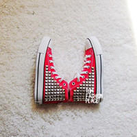 Studed Converse shoes Converse All Star shoes studed canvas shoes