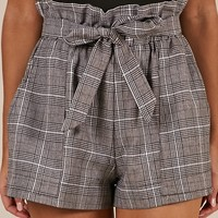 All Rounder Shorts in grey check Produced By SHOWPO