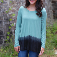 Ombre Ode Long Sleeve Top {Dusty Sage}