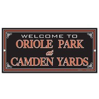 BALTIMORE ORIOLES WELCOME TO ORIOLE PARK AT CAMDEN YARDS WOOD SIGN NEW WINCRAFT
