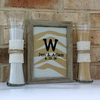 Personalized Rustic Barn Wood Wedding Sand Ceremony Frame Set with FREE Personalization, Unity Set, Sand Shadow Box Frame