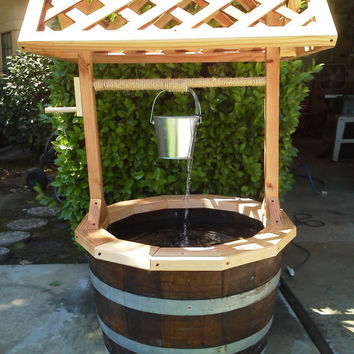 Garden Wishing Well with Water Feature