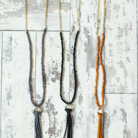 Classic Tassel Necklace - Only Black left