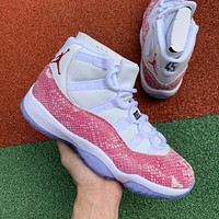 Air Jordan 11 Retro High Pink Snakeskin Men Sneakers - Best Deal Online