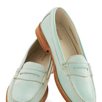 Bass Menswear Inspired Loafer and Over Flat in Spearmint