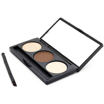 HOT New Arrival Eyebrow Powder Eye Brow Palette Cosmetic Makeup Shading Kit Brush Mirror Glitter,Shimmer,Matte,Natural Anne