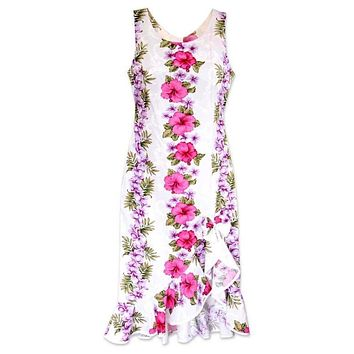 white mist hawaiian naniloa dress