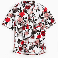 UO Rose Rayon Short Sleeve Button-Down Shirt | Urban Outfitters