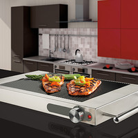 Ribbed Glass Electric Grill Top @ Sharper Image