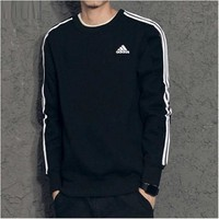 ADIDAS tracksuit men's spring tracksuit with a round neck top and long sleeves for men's pullovers