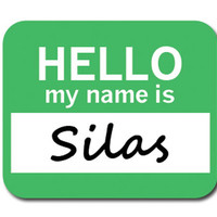 Silas Hello My Name Is Mouse Pad