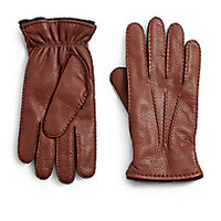 Saks Fifth Avenue Collection - Deerskin Leather Gloves - Saks Fifth Avenue Mobile
