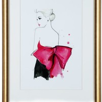 Dior Pink Bow   Figurative & Nudes   Art Themes   Art   Z Gallerie