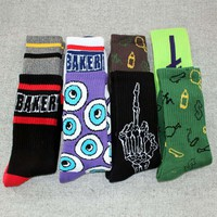 Fashion Jasper Baker Harajuku summer Style Thick Terry Socks Skateboard Cotton men's socks