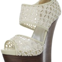 bebe Women's Celia Wedge Sandal