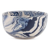 Small Blue Marbelized Bowl