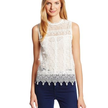 Dolce Vita Women's Hagia Tiered Lace Tank Top