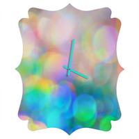 Lisa Argyropoulos Color Me Happy Quatrefoil Clock