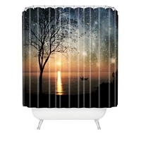 Belle13 The Old Man And The Sea Shower Curtain