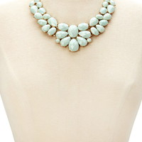 Faux Gemstone Statement Necklace | Forever 21 - 1000143116