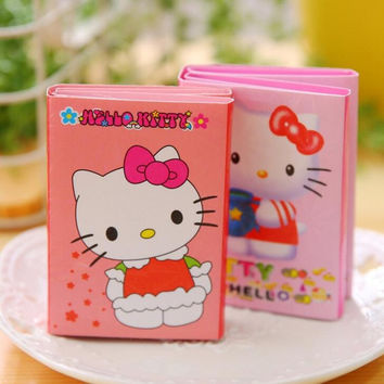 Sweet Pink Hello Kitty Cartoon 6 Folding Memo Pad N Times Sticky Notes Memo Notepad Bookmark Gift Stationery